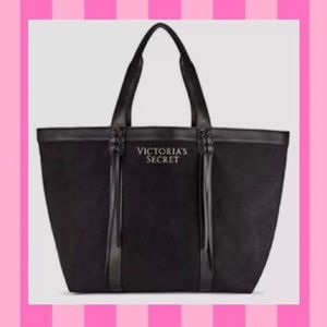 🖤Victoria's Secret Leather Tassel Tote